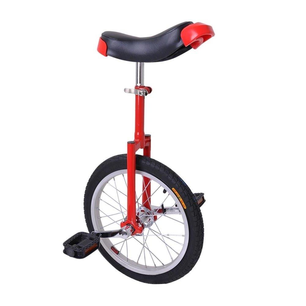 FDInspiration 24'' Wheel Red & Black Adjustable Height Unicycle Balance Sport Mountain Tire by FDInspiration