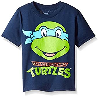 Freeze Nickelodeon Little Boys' Toddler Teenage Mutant Ninja Turtles Group T-Shirt, Navy, 2T