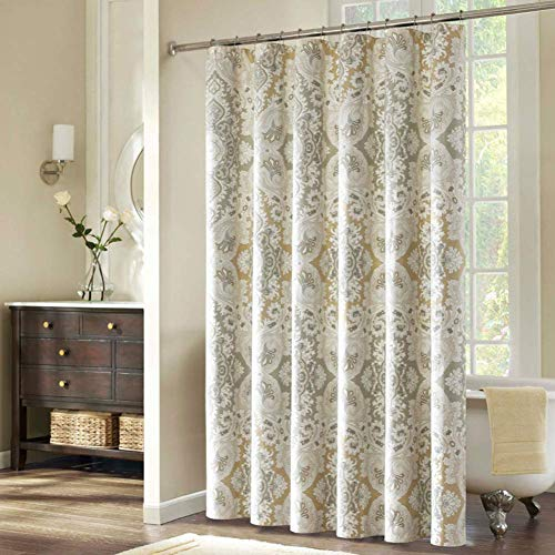 """DS BATH Palermo Waterproof Microfibe Shower Curtain,Polyester Fabric Shower Curtain,Print Shower Curtains for Bathroom,Decorative Bathroom Curtains,62"""" W x 78"""" H"""