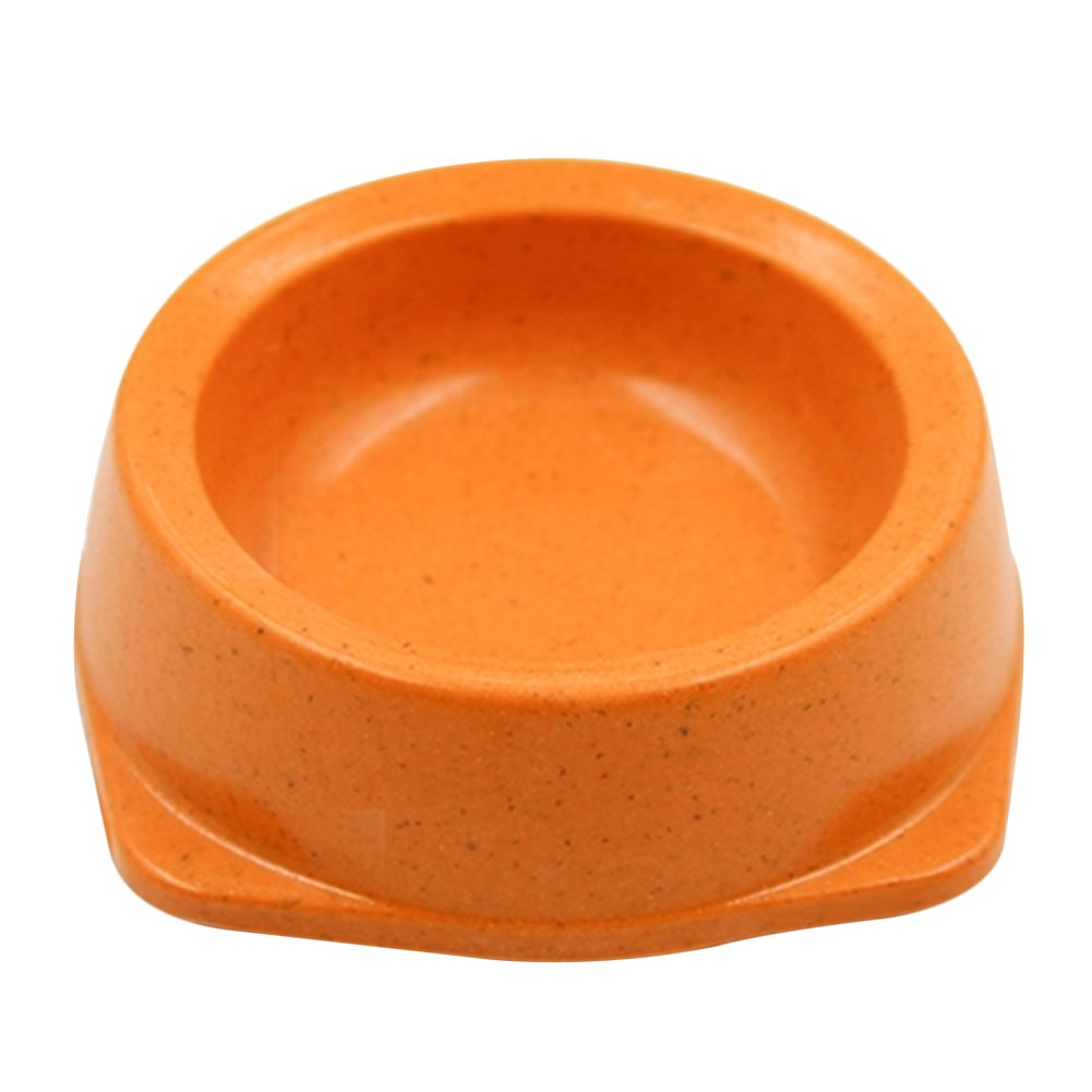 Topbeu Eco-Friendly Pet Bowls Food Water Dish for Dogs Cats, Made of Bamboo Fiber, 1PC
