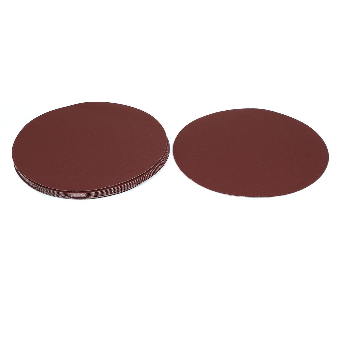 uxcell 9-inch Dia 120 Grits Self-stick Sanding Disc Flocking Sandpaper Polishing Tool 10pcs