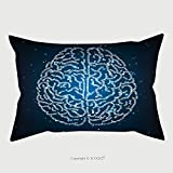 Custom Satin Pillowcase Protector Concept Illustration Of A Human Brain Formed Out Of Binary Code Digits Shiny Artificial 429420898 Pillow Case Covers Decorative