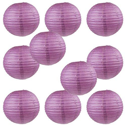 WYZworks Round Paper Lanterns Purple