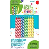 Amscan (Amsdd) Party Time Magic Relightable Birthday Candles (120 Piece), Multi /Wax, 2.5''