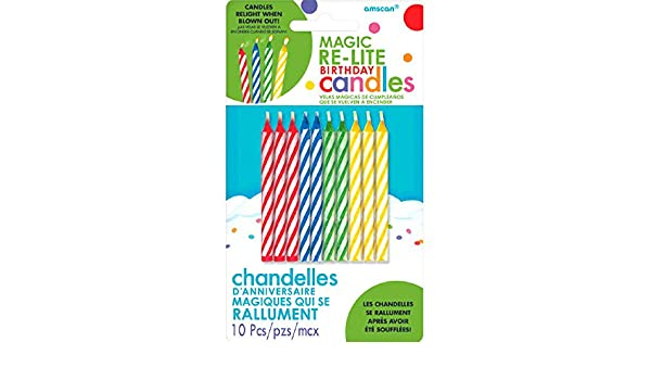Party Supply Assorted Colors TradeMart Inc 120 Ct Magic Re-Lite Birthday Candles 8065.99