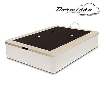 Dormidán - Canapé abatible Gran Capacidad Esquinas Redondeadas macizas, Base tapizada en 3D Transpirable/Polipiel, 4 válvulas de aireación, 150x190cm, ...