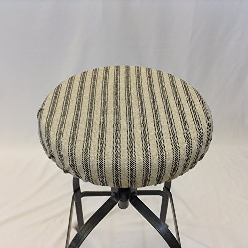 Round bar stool cover. Stool cushion in French Ticking Fabric elasticized round barstool cover 12u0026quot & Amazon.com: Round bar stool cover. Stool cushion in French Ticking ... islam-shia.org