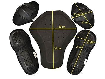 3eb9b95c96c CE protectores Set 5x protectores para moto chaqueta Biker Protektorenset   Amazon.es  Coche y moto