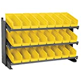 Akro-Mils APRBENCH120 Bench Pick Rack with 24 Shelf Bins, Gray/Yellow