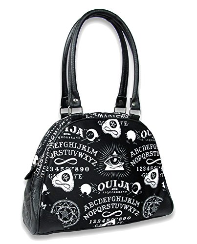 Liquorbrand Ouija Board Halloween Gothic Symbols Tattoo Vegan Bowling Bag Purse ()