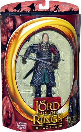 Lord of the Rings Two Towers Action Figure King Theoden in Armor by Toy Biz