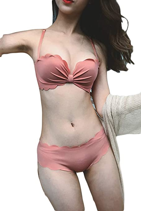 1ee0705b0d030 Amazon.com  Weixiltc Women Japan-Korean Characteristic Smooth Surface  Gather Bra Set  Clothing
