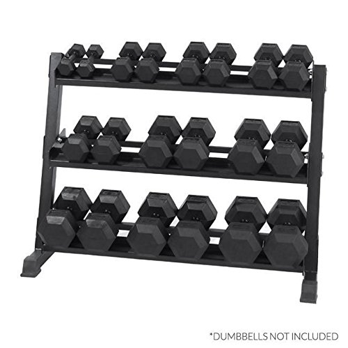 Xtreme Monkey 3-Tier Dumbbell Storage Rack (Holds 5-50lb)