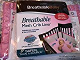 Breathable Baby Mesh Crib Liner - Geo Girls