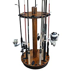 Make the most of your available space with this attractive and functional cylindrical fishing rod rack, capable of securely holding up to 30 fishing rods (not included). Plus with 6 special rod clips featuring Dual Clip Technology, this rack ...