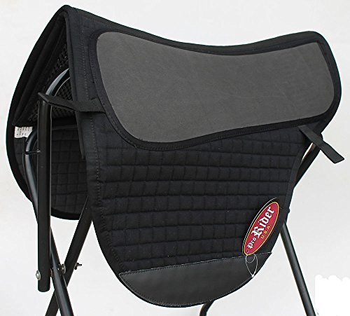 Horse English Western Endurance Treeless Gel Cotton SADDLE Pad Black Tack 122F35