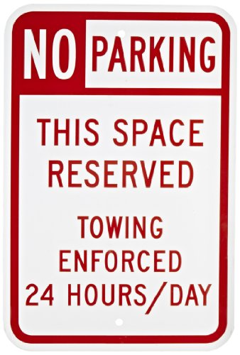 Red Sign Parking (SmartSign Aluminum Sign, Legend