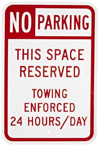 Sign Parking Red (SmartSign Aluminum Sign, Legend