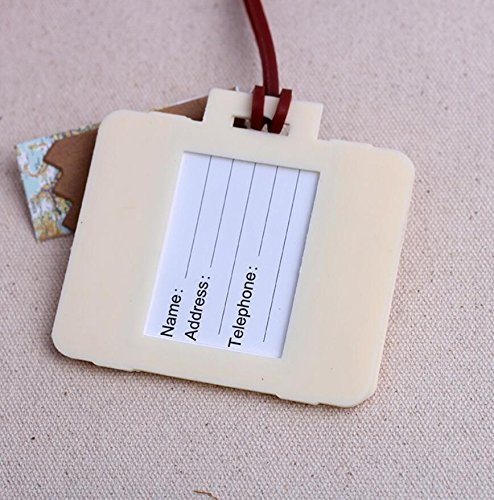 36pcs ''Let the Journey Begin'' Vintage Suitcase Luggage Tag Baby Shower Gifts & Wedding Favors by cute rabbit (Image #3)