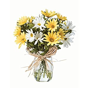 Farmhouse Daisies Silk Arrangement - Yellow/White 6