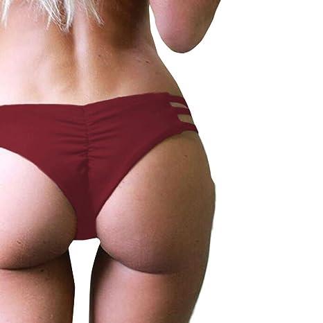Malloom Mujeres Tangas Traje de Baño Nadar Troncos Vendaje Bikini Ropa Interior Braguitas Playa (L