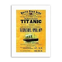 DOOMED OCEAN LINER TITANIC QUEEN WHITE STAR UK Poster Travel Sport Canvas art