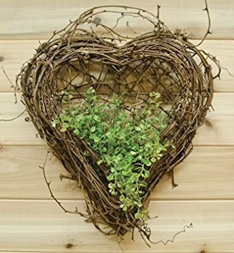 Grapevine Heart Wreath - Natural Grapevine Wall Heart Country Primitive Floral Décor