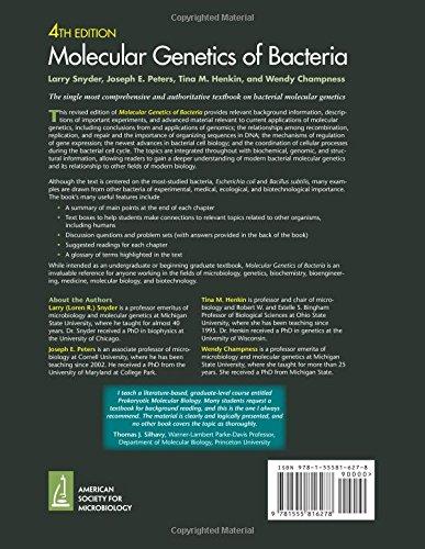 Molecular Genetics of Bacteria, 4th Edition
