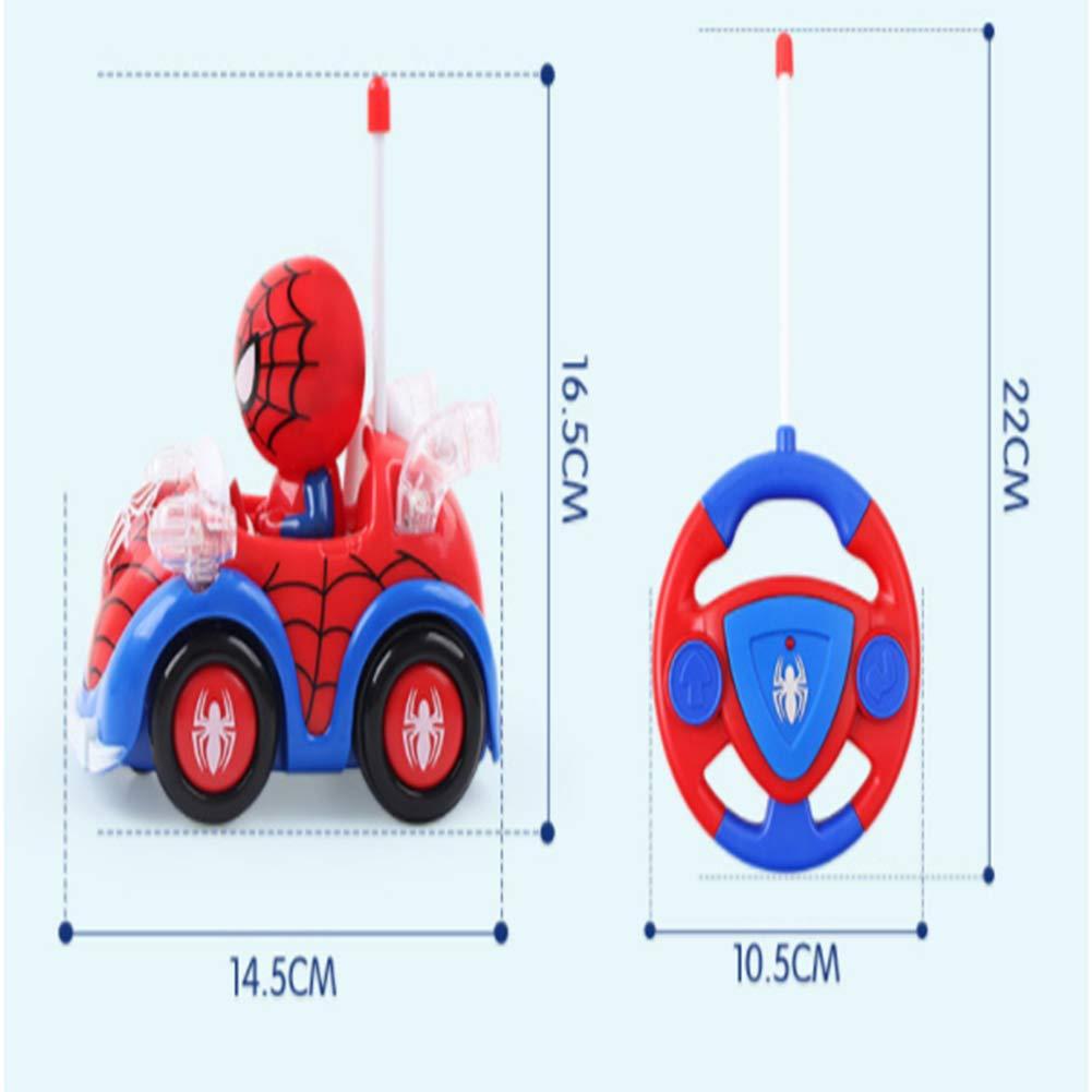 Ayy V/éritable Spider-Man Q Version t/él/écommande Voiture Petit Jouet gar/çon Cartoon Anime Enfants /électrique t/él/écommande Voiture