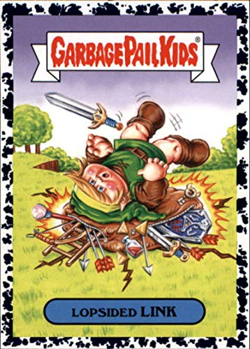 2019 Topps Garbage Pail Kids We Hate the '90s Video Games Sticker Bruised #1a LOPSIDED LINK Trading Card