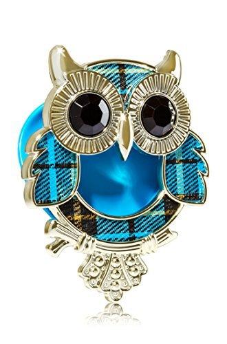 (Bath & Body Works Scentportable Car Visor Clip Holder Turquoise Plaid Owl)