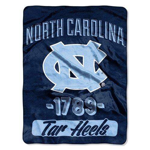 60' Micro Raschel Blanket - North Carolina Tar Heels 46x60'' Micro Raschel Throw Blanket - Rolled - Varsity