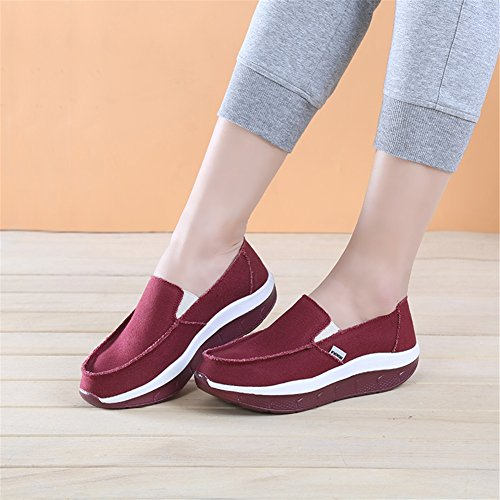 XUE Women's Shoes Canvas Spring Fall Loafers & Slip-Ons Driving Shoes Fitness Shake Shoes Shake Shoes Shaking Shoes Flat Loafers Casual Comfort Sneakers Athletic Shoes Platform Shoes A oLGyMEZH