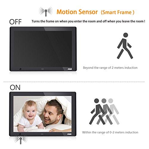 SSA 10-Inch HD Digital Photo Frame with Motion Sensor High ...
