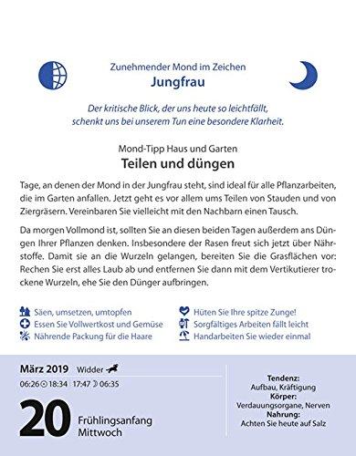 Leben Mit Dem Mond 2019 9783840019333 Amazoncom Books