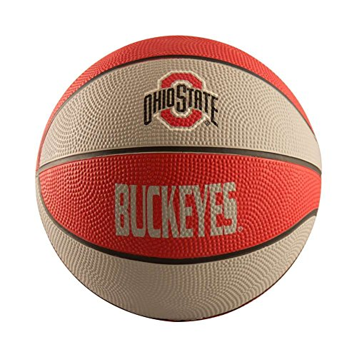 NCAA Ohio State Buckeyes Mini Size Rubber Basketball, Brown by Logo Brands