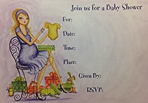 Amazon stylish papyrus baby shower invitations 10 count stylish papyrus baby shower invitations 10 count filmwisefo