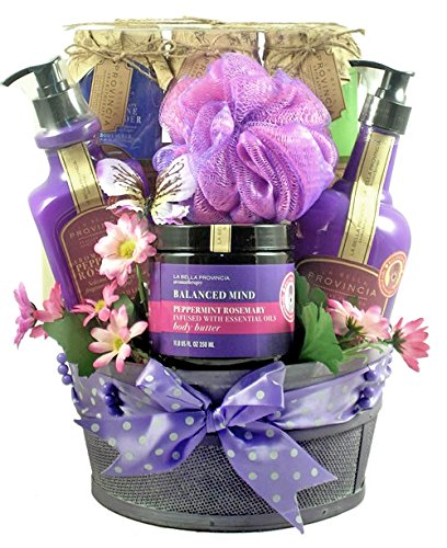 (Aromatherapy Spa Gift Basket for Women)