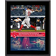 """Brock Holt Boston Red Sox 10.5"""" x 13"""" First Player to Hit for the Cycle In Postseason History Sublimated Plaque"""