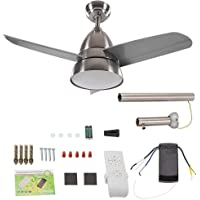 """Ceiling Fan Sand Nickel Protection 3 Blades 3 Blades Ceiling Fan, Changing Lights LED Ceiling Fan, Cold White 36"""" Home…"""