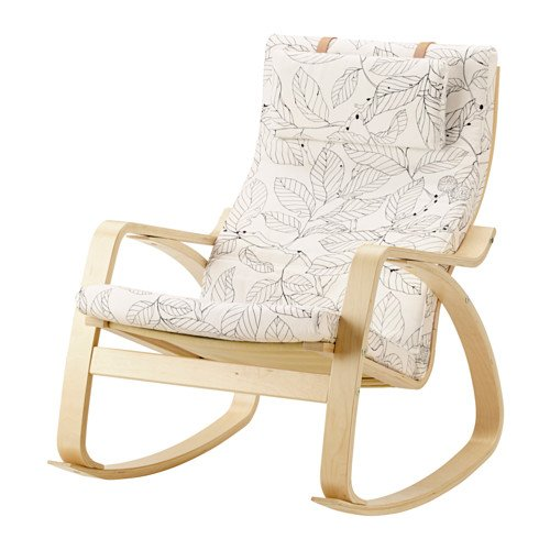 Ikea Rocking chair, birch veneer, Vislanda black/white 14204.2658.2614