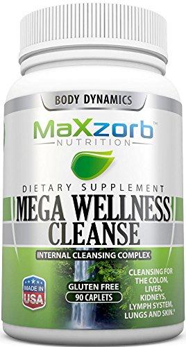 (Mega Wellness Internal Cleanse Cleansing Complex – Natural Herbal Detox Cleanse – 90 caplets)