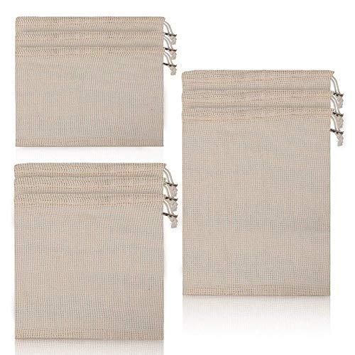 INFILM 9 bolsas reutilizables de algodón para verduras, para ...