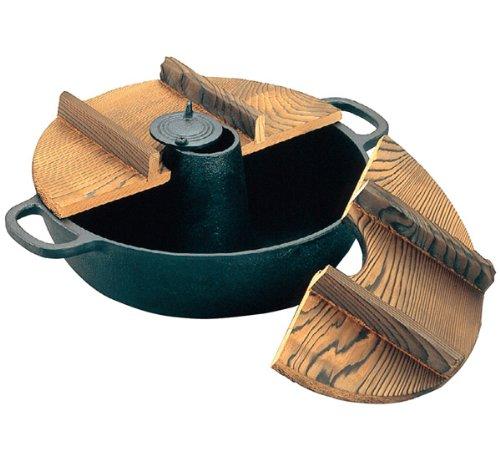 アサヒ 鉄  木蓋付しゃぶしゃぶ鍋 S-9-70   B004D253WG