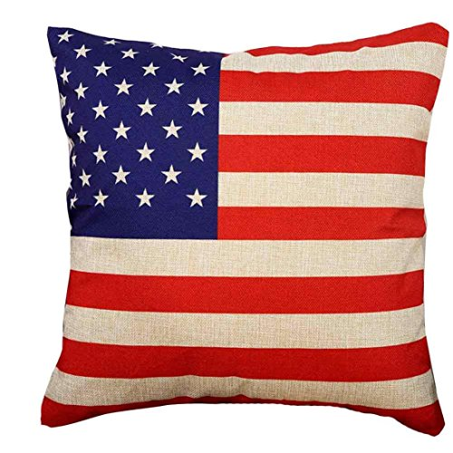 Start I Love American Independence Day July 4th Gift Flag Pattern outdoor indoor Decorations Gifts Decor ((45cm45cm)linen blend Pillow - 18k Aviators