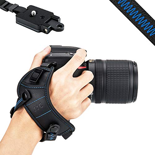 JJC DSLR Camera Wrist Hand Strap Grip w/Arca Swiss Type Quick Release Plate for Canon 7D 7DM2 6DM2 5DM4 5DM3 5Ds R 80D 77D 70D 60D T7i T6s T6i Nikon D850 D810 D750 D610 D7500 D5600 D5500 D3500 P1000 from JJC