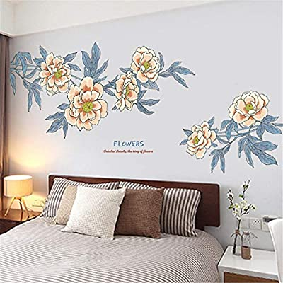 CzJoy Large Flowers Wall Stickers, Premium Vinyl Removable Home Decor Wall Decals for Baby Room Nursery Kids Bedroom Living Room 99cm(H) x 210cm(W) (38.98