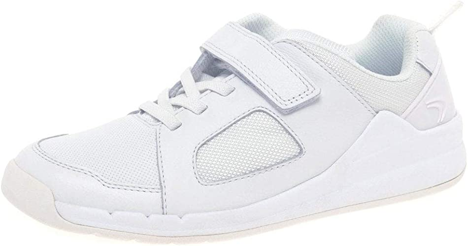 Childrens Clarks Orbit Ride Leather Casual Hook /& Loop Strap Trainers