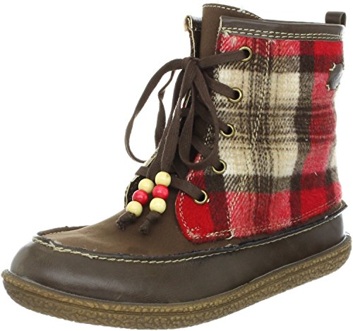 Roxy Women's Canoe Ankle Boot,Brown/Red,10 B US