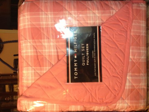 (Tommy Hilfiger 3pc Full/Queen Quilt and Standard Pillow Shams Pristine Plaid)